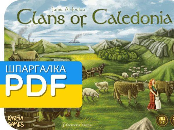 Шпаргалка для Кланів Каледонії українською